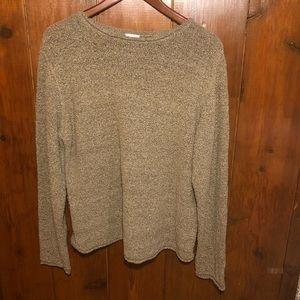 Columbia Oatmeal Tan Cream Sweater